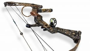 a compound bow on a white background