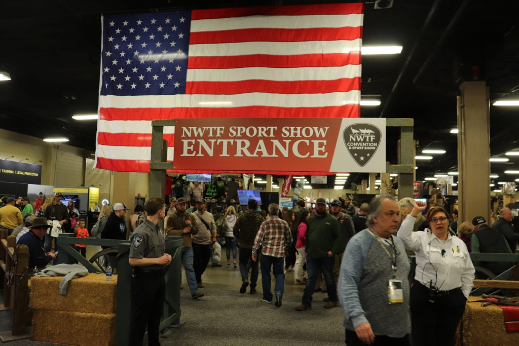 a picture of the entrance to the 2020 NWTF Show