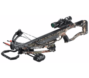 a crossbow on a white background