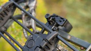 close up view of a part of a compound bow
