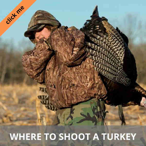 a hunter carrying a turkey