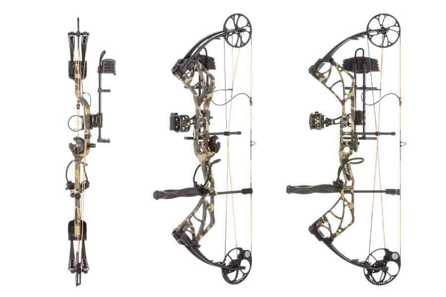 different views of the bear archery species bow